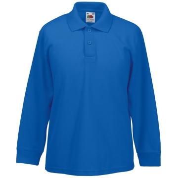 Bērnu zils polo krekls ar...