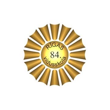 Rīgas 84.vsk. emblēma