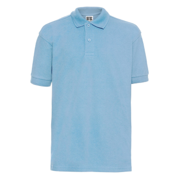 Bērnu gaiši zils polo krekls