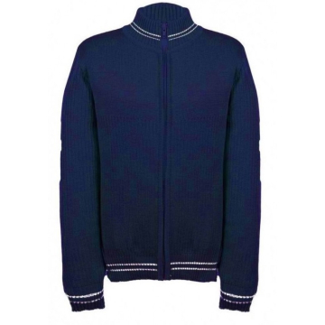 Tumši zila adīta jaka